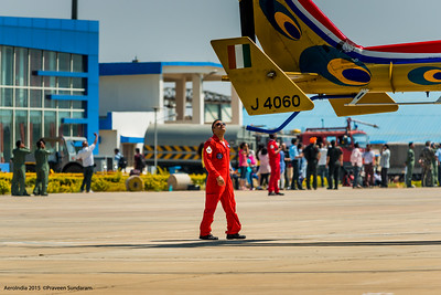 Sarang Pilot Inspecting the aircraft pre flight