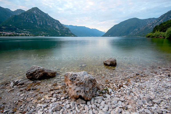 Lake Idro, dusk