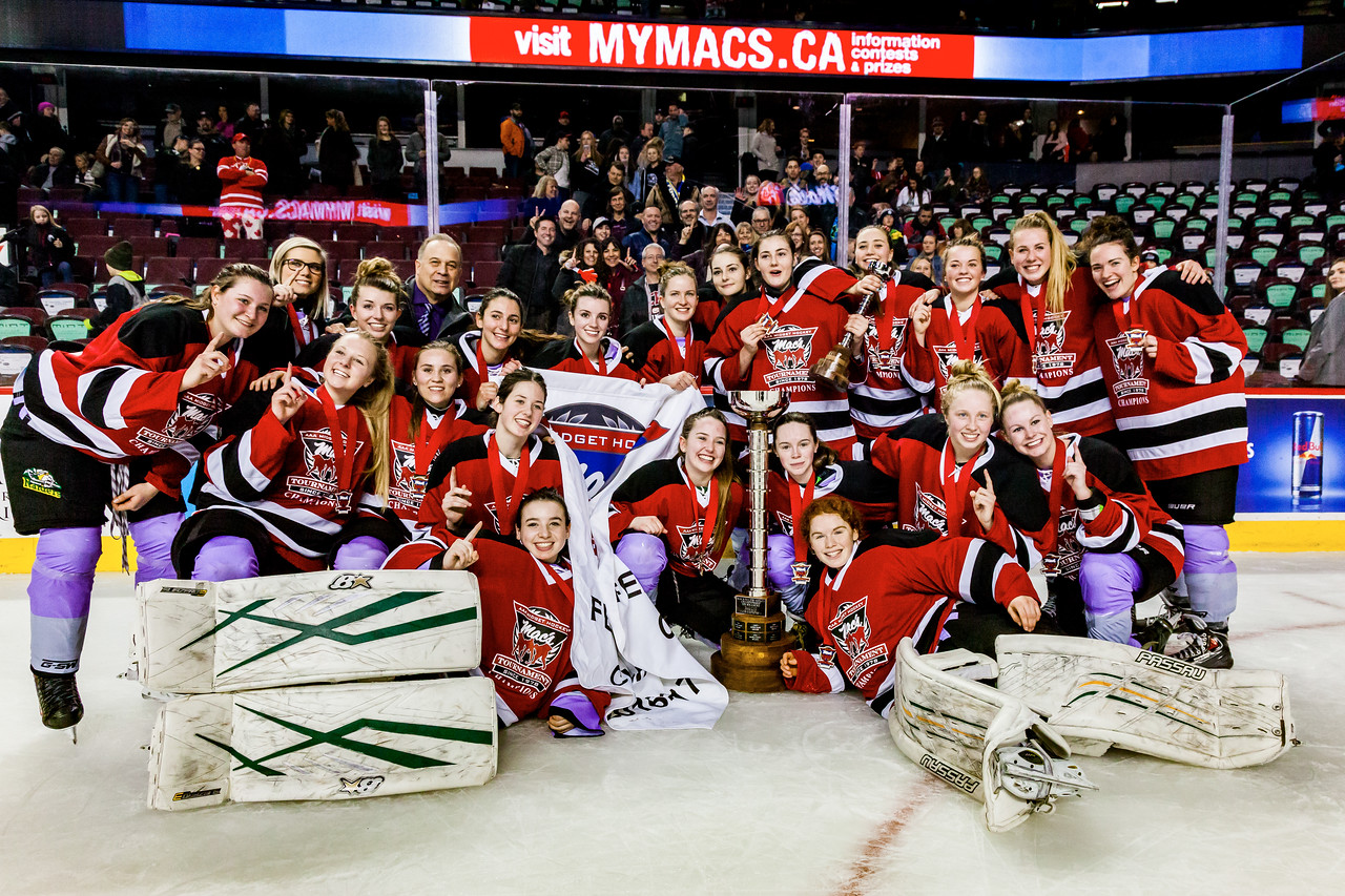 "CALGARY (AB) January 1, 2017 - The Rocky Mountain Raiders (Okotoks, AB) and the Saskatoon Stars (Saskatoon, SK) met in the Female Division Final of the Mac's AAA Midget Hockey Tournament at the Scotiabank Saddledome in Calgary, AB. The Rocky Mountain Raiders won the Mac's World Invitational Championship with a final score of 5-4. (C) Laine Schuck /  <a href=""http://www.laine.ca"">http://www.laine.ca</a>"