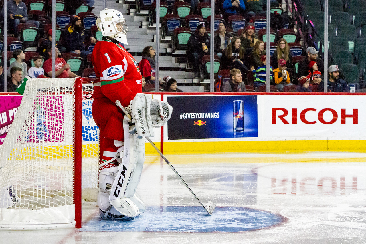 "CALGARY(AB) January 1, 2017 - The Belarus National U17 Team and the Saskatoon Contacts (Saskatoon, SK) met in the Male Division Final of the Mac's AAA Midget Hockey Tournament at the Scotiabank Saddledome in Calgary, AB. Belarus would win the Mac's World Invitational Championship with a final score of 6-1. (C) Laine Schuck /  <a href=""http://www.laine.ca"">http://www.laine.ca</a>"