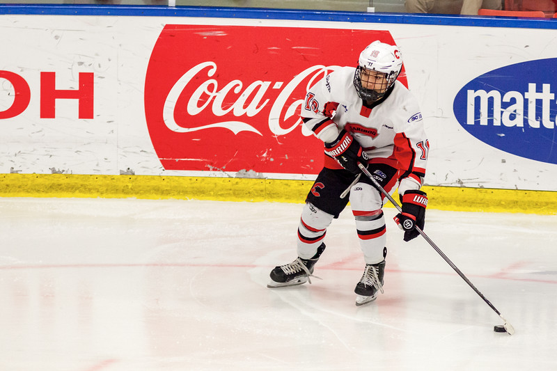 December 31, 2016 - Mac's Midget Tournament, Max Bell Centre, Calgary, Alberta - Male Division Semi-Final - Cariboo Cougars vs. Belarus National U17 - Cougars forward #19 Daine Dubois.
