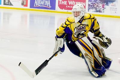 December 27, 2017 - Calgary, AB - 2017-2018 Mac's AAA Midget Hockey Tournament - Max Bell Centre Arenas. The Calgary Royals vs. The Hungarian National U18 Team.
