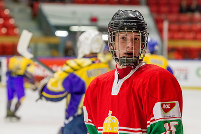 December 27, 2017 - Calgary, AB - 2017-2018 Mac's AAA Midget Hockey Tournament - Max Bell Centre Arenas. The Calgary Royals vs. The Hungarian National U18 Team.
