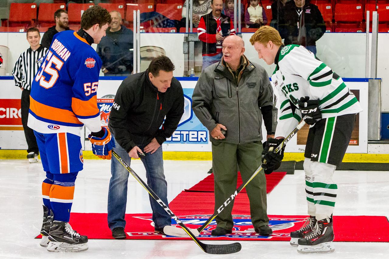 December 27, 2017 - Calgary, AB - 2017-2018 Mac's AAA Midget Hockey Tournament - Max Bell Centre Arenas. The Okotoks Oilers vs. the New York Jr. Islanders.