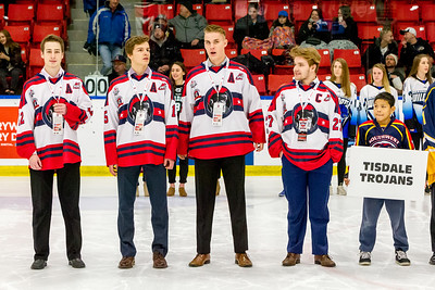 December 26, 2017 - Calgary, AB - 2017-2018 Mac's AAA Midget Hockey Tournament - Max Bell Centre Arenas. Opening Ceremonies for the 2017-2018 tournament. Game 10: Calgary Northstars vs. Ontario Jr. Reign.
