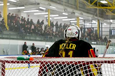 December 31, 2017 - Calgary, AB - 2017-2018 Mac's AAA Midget Hockey Tournament - Max Bell Centre Arenas. Female Division Semi-Final Game - Regina Rebels vs. Prince Albert Northern Bears.