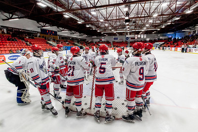 December 26, 2017 - Calgary, AB - 2017-2018 Mac's AAA Midget Hockey Tournament - Max Bell Centre Arenas. Greater Vancouver Canadians vs. Okotoks Bow Mark Oilers.