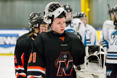 December 29, 2017 - Calgary, AB - 2017-2018 Mac's AAA Midget Hockey Tournament - Max Bell Centre Arenas. Female Game #11: Vancouver Island Seals vs. Prince Albert Northern Bears.