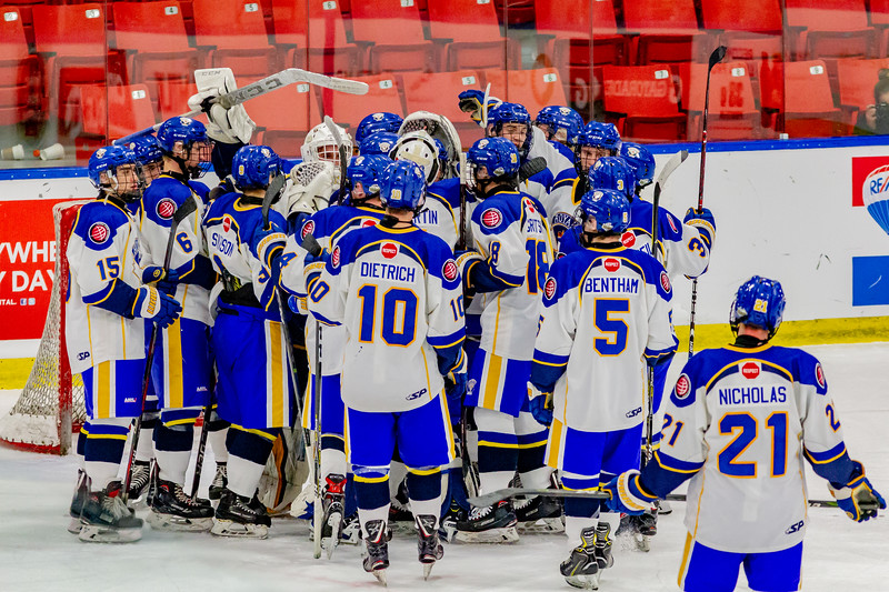 December 26,2018 - Calgary,AB. Mac's AAA Midget Hockey Tournament. Game 10 - Calgary Royals vs. Rocky Mountain Rough Riders at the Max Bell Centre.