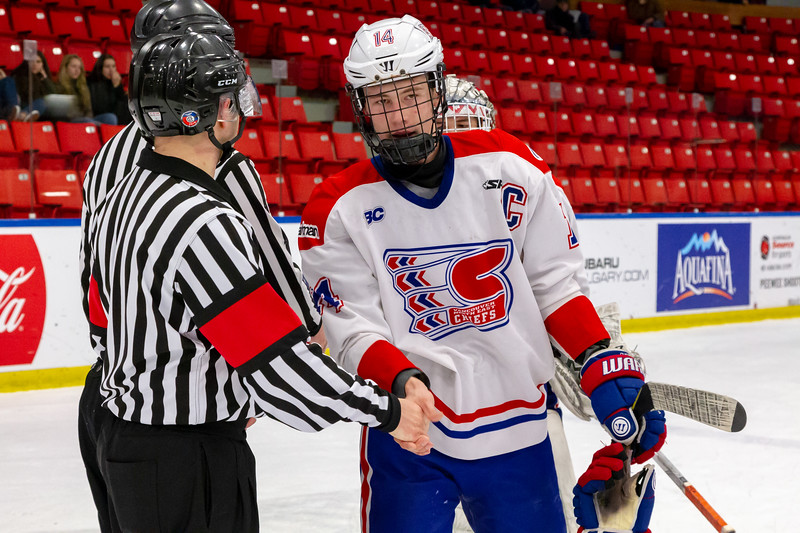 December 29, 2018 - Calgary, AB - Game 37 - St. Albert Nektar Data Systems Raiders and the Vancouver NE Chiefs.