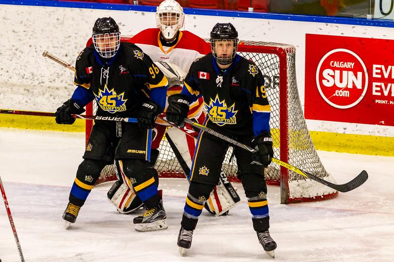 December 29, 2018 - Calgary, AB - Game 39 - Brampton 45s and the Calgary Flames.
