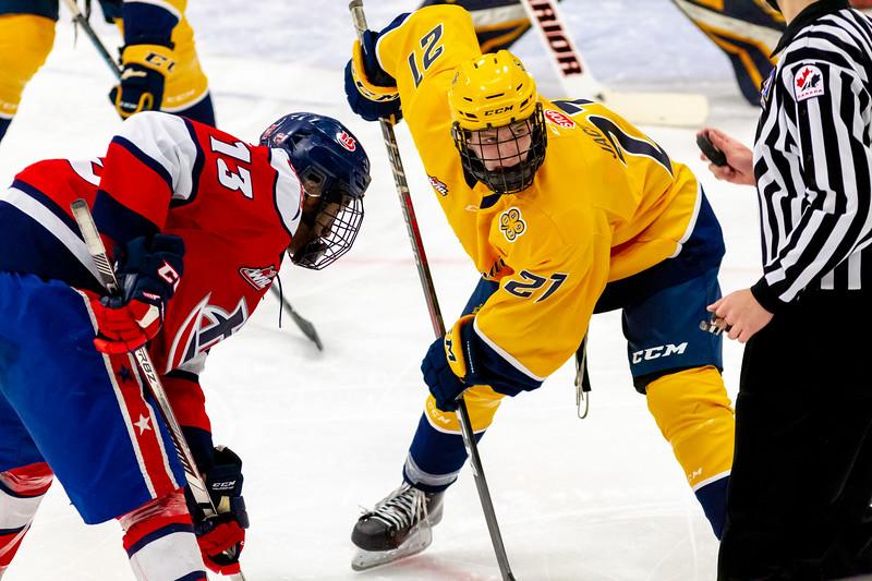 December 26,2018 - Calgary,AB. Mac's AAA Midget Hockey Tournament. Game 7 - Lethbridge Hurricanes vs. Switft Current Legionaires.