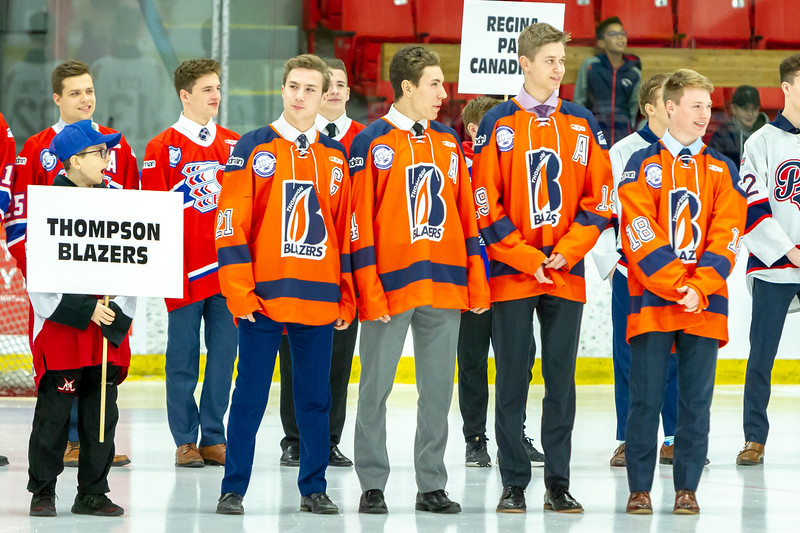 December 26, 2018 - Calgary, AB - Opening Ceremonies at the Max Bell Centre for the Mac's AAA MIdget Hockey Tournament.