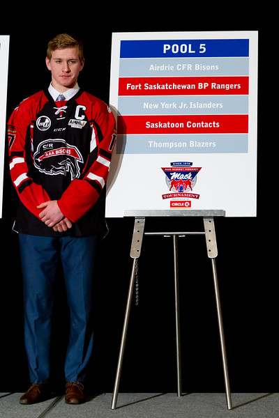 December 26, 2018 - Calgary, AB - Opening Press Conference at the Westin Hotel Calgary for the Mac's AAA MIdget Hockey Tournament. Calgary and area teams revealed this years participating teams and pool placements.