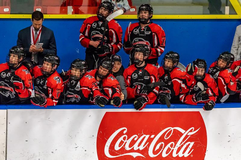 December 30, 2018 - Calgary, AB - Quarter Final / Game 51 - Saskatoon Blazers and the Airdrie CFR Bisons.