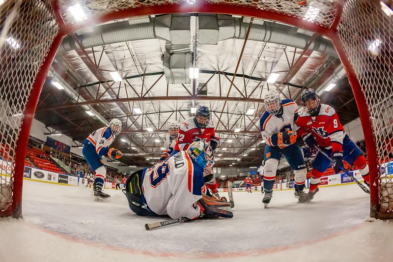 December 31, 2018 - Calgary, AB - Semi-Final / Game 55 - Saskatoon Blazers vs. Lethbridge Hurricanes at the Max Bell Centre.