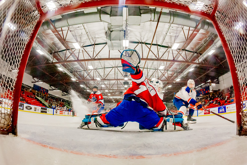December 31, 2018 - Calgary, AB - Semi-Final / Game 55 - Saskatoon Blazers vs. Lethbridge Hurricanes at the Max Bell Centre.