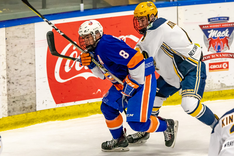 December 31, 2018 - Calgary, AB - Semi-Final / Game 56 - St. Albert Nektar Data Systems Raiders vs. the New York Jr. Islanders at the Max Bell Centre.