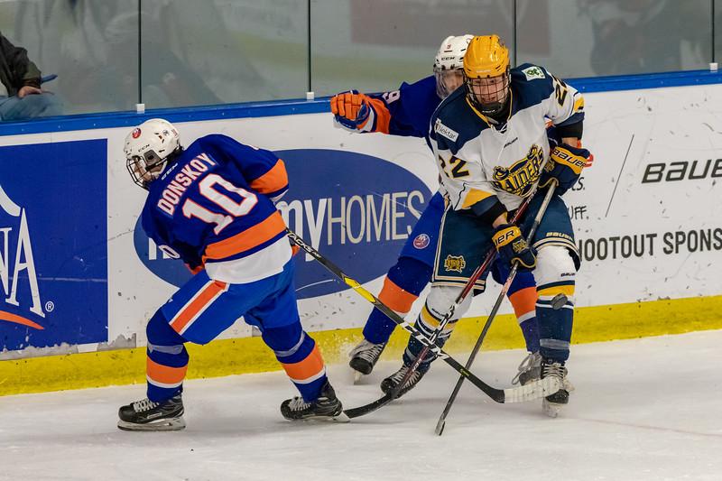 December 31, 2018 - Calgary, AB - Semi-Final / Game 56 - St. Albert Nektar Data Systems Raiders vs. the New York Jr. Islanders at the Max Bell Centre.