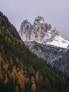 First glimpse of Tre Cime