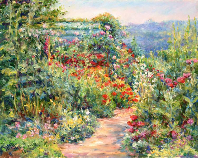 Poppy Path - Monet's Garden