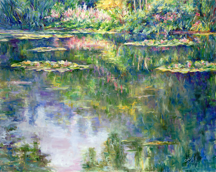 "Water Reflections - Monet""s Garden"