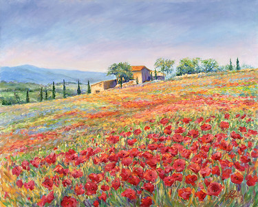 Tuscan Countryside 5x7 Giclee (1 Available)