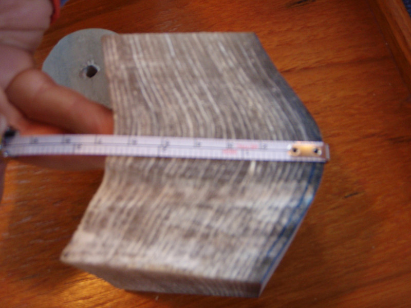 hull core sample: 2.75 inches thick!