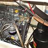 engine access from inside the port cockpit locker