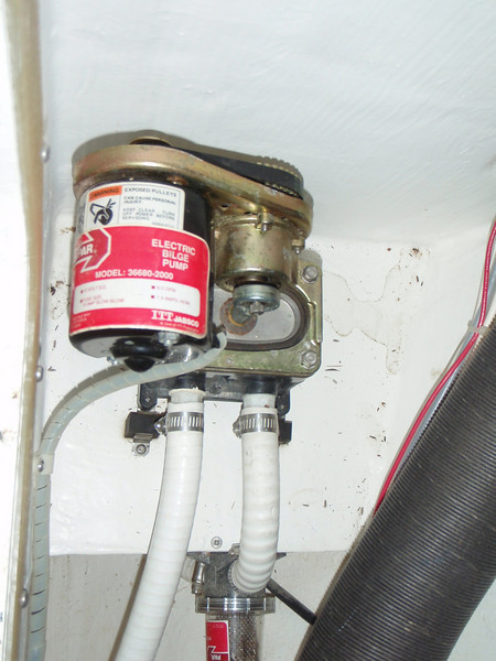 bilge pump in the head - sump pump?