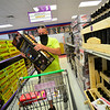 KRISTOPHER RADDER — BRATTLEBORO REFORMER<br /> Art Spielman, from Massachusetts, puts a case of motor shells into his cart while shopping at Phantom Fireworks, in Hinsdale, N.H., on Wednesday, June 24, 2020.
