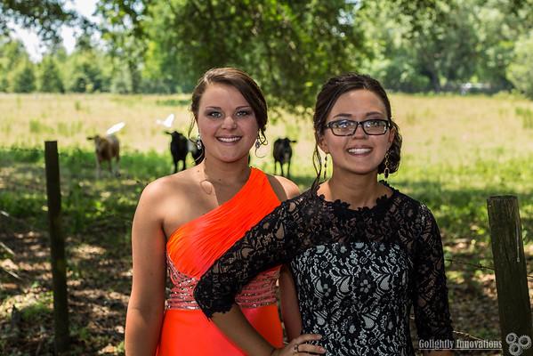 Madisen & Makayla Buzbee Prom Photos