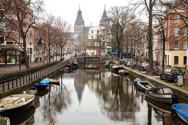 Canal to Amsterdam Rijksmuseum