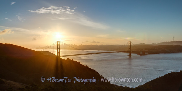 Sunrise over Golden Gate Bridge