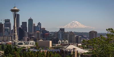 Seattle Skyline with Mt. Rainier 55 Miles in Distance