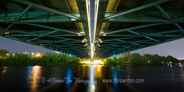The Long Span -- Underneath Hennepin Avenue Bridge