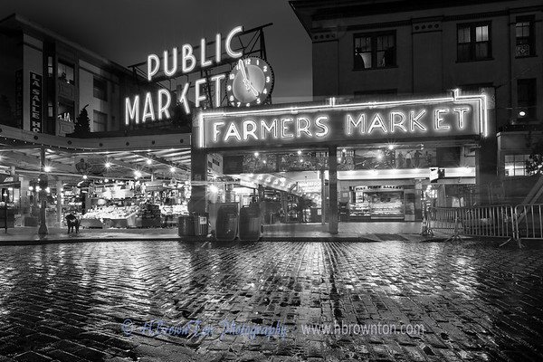 Night Lights at Pike Place Market