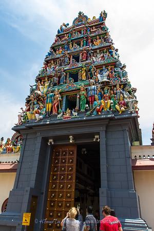 Entrance to Sri Mariamman Hindu Temple