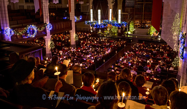 Merry Christmas to All! Christmas Eve Candlelight Service at Central Lutheran Church Minneapolis
