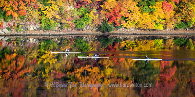 Rowing through the colors...