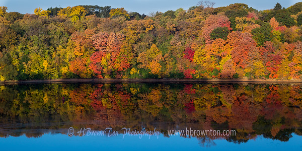 Mississippi River's Autumn Color Reflections