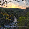 Sunset from atop Chittenango Falls