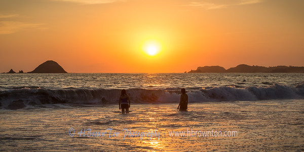 Warm Waves and Sunset