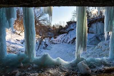 Ice Curtains Forming