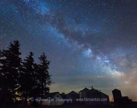 Milky Way Over the Farm