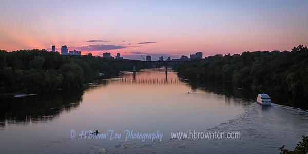 Sunset over Minneapolis & Mississippi