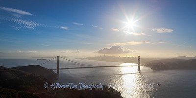 Morning Vista of San Francisco Bay Area & Golden Gate Bridge