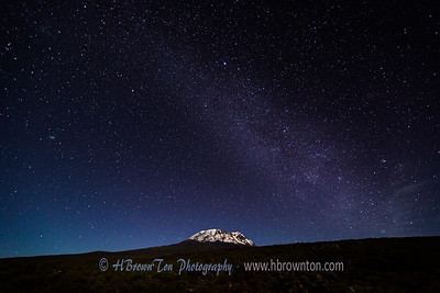 Mt. Kilimanjaro under the Milkyway
