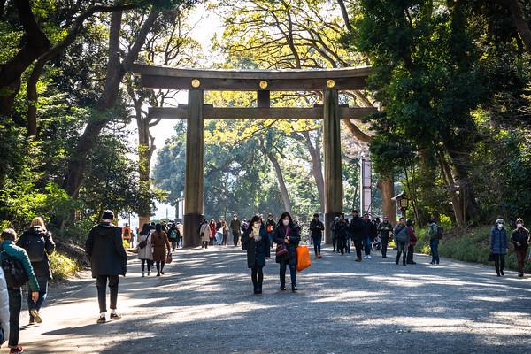 Entrance to Meiji Jingu Temple