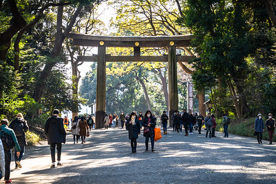 Entrance to Meiji Jingu Temple